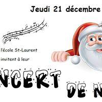Concert de Nol des lves de lcole St-Laurent de Mazy