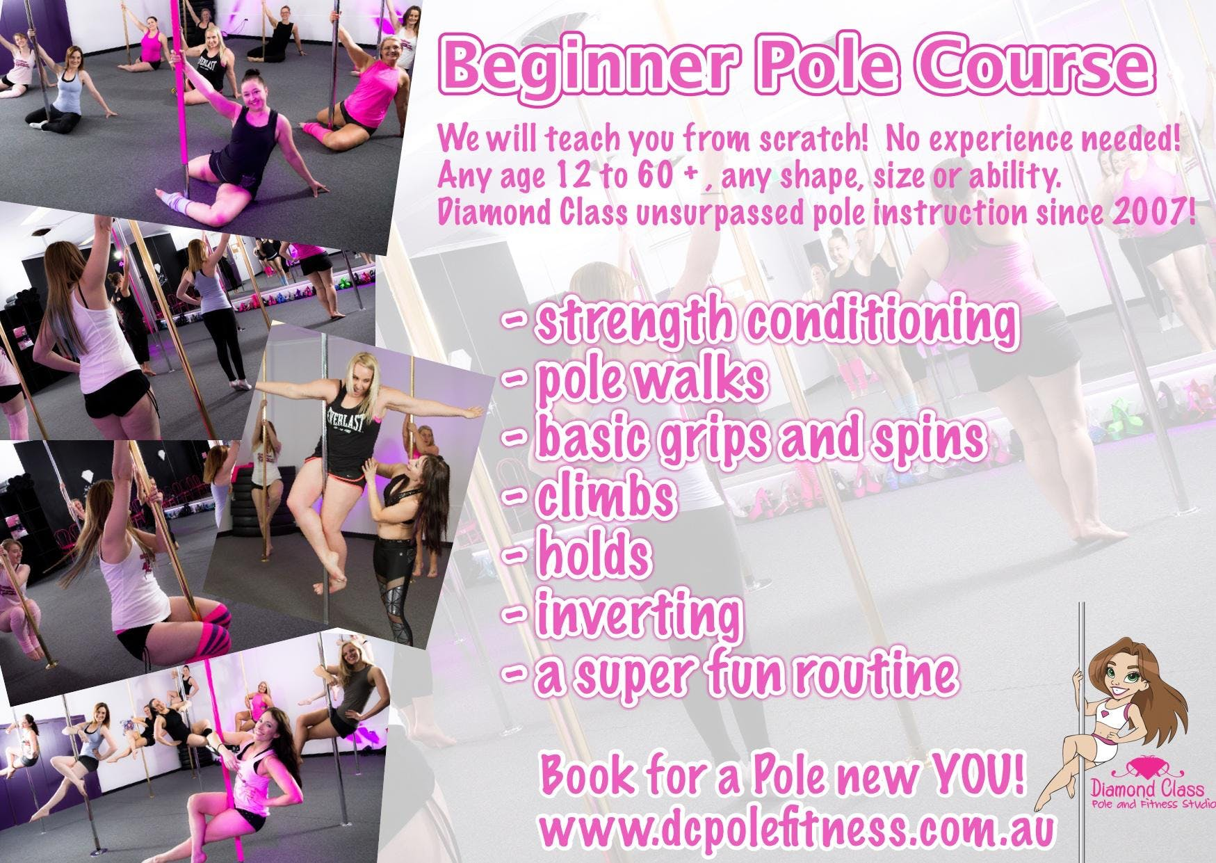 Intro to Beginner Pole - 3 wk workshop