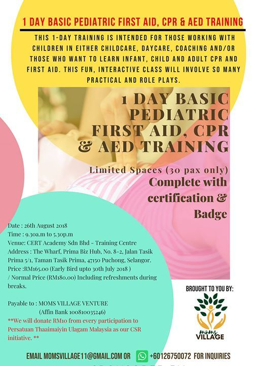1 Day Basic Children Pediatric First Aid Cpr Aed Workshop At