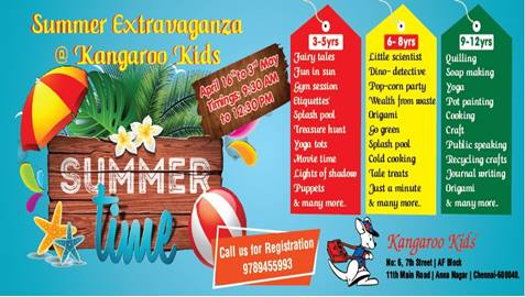 Summer Extravaganza 2018 at Kangaroo kids Annanagar