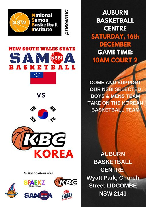 Samoa Vs Korea At Auburn Basketball Centre Lidcombe