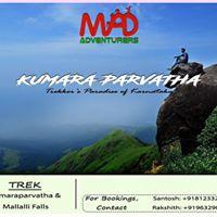 Kumara Parvatha Trek at Rs 2900person