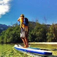 Alps to Coast 8 days (6 SUP days) From Alpine lakes down the emeraldgreen rivers all the way to the Coast.