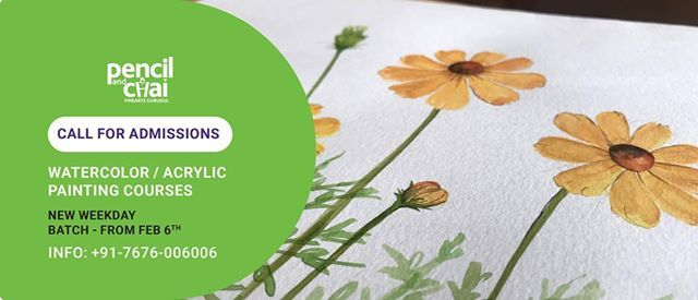 Admissions Call Weekday WatercolorAcrylic painting classes