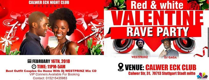 Red & White Valentine Rave Party
