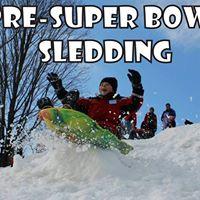 Pre-Super Bowl Sledding