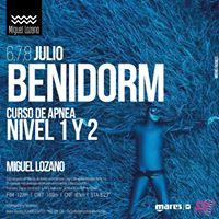 Nuevo curso de Apnea Nivel I y II con el gran Miguel Lozano.