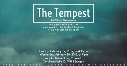 The Tempest by W. Shakespeare performed by the Englisch Fachjahr