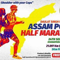 Daulat Singh Negi Memorial Assam Police Half Marathon 2017