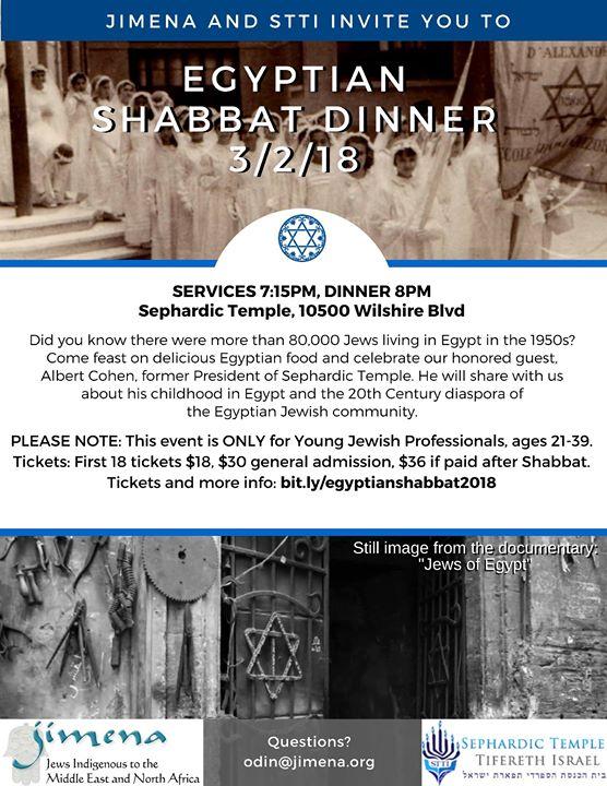 Jimena Shabbat Series & STTI Present Shabbat in Egypt