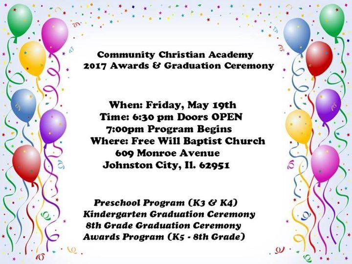 2017 awards graduation ceremony at first free will baptist church