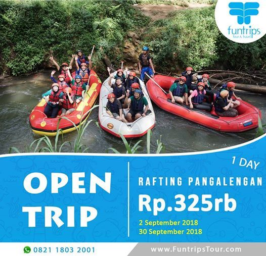 OPEN TRIP Rafting Pangalengan  2 September 2018