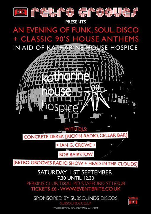Retro Grooves In Aid Of Katharine House Hospice Stafford