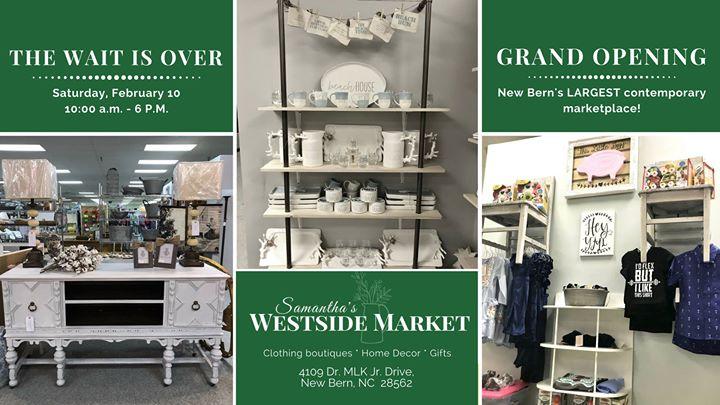 GRAND Opening   Door Prizes U0026 More! At Samanthau0027s Westside Market, New Bern