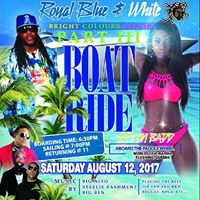 ROYAL BLUE &amp WHITE BRIGHT COLOURS AFFAIR BOAT RIDE PART III