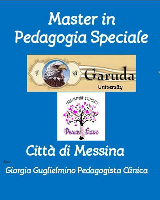 Master 1 LIVELLO IN PEDAGOGIA SPECIALE