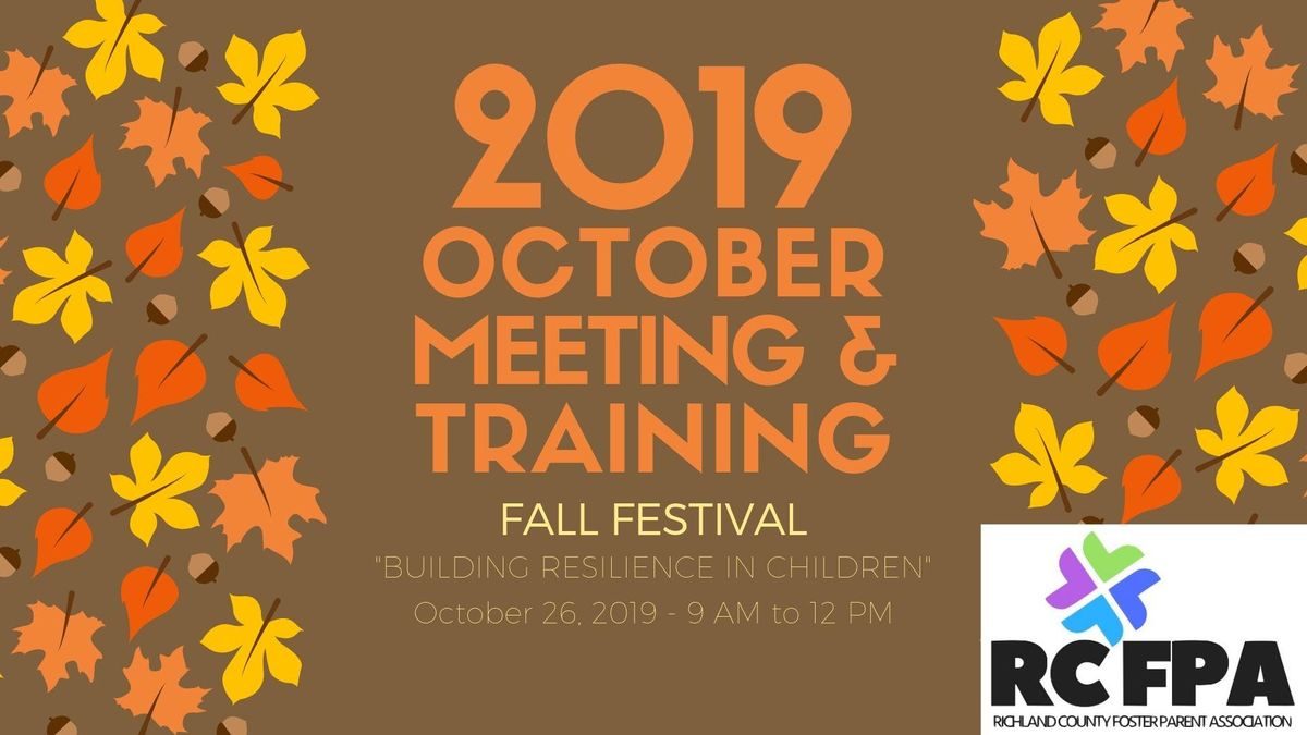 RCFPA October 2019 Fall Festival Meeting & Training