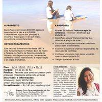 Workshop vivencial de Teatroterapia da Vida