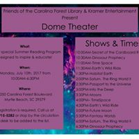 Dome Theater Traveling Planetarium Sign Up Required