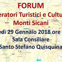 FORUM degli Operatori Turistici e Culturali dei Monti Sicani