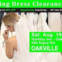 Oakville Wedding Dress Sale