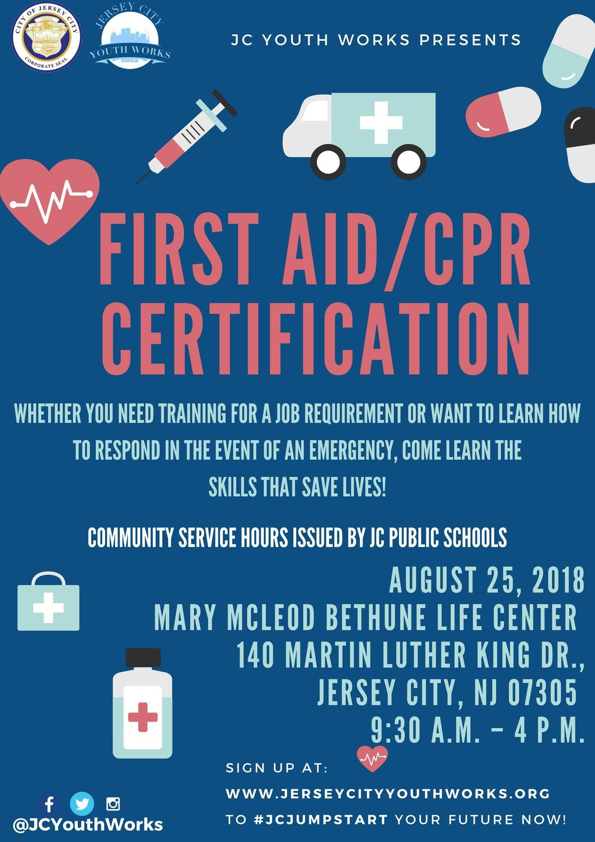 First Aidcpr Certification At Mary Mcleod Bethune Life Center