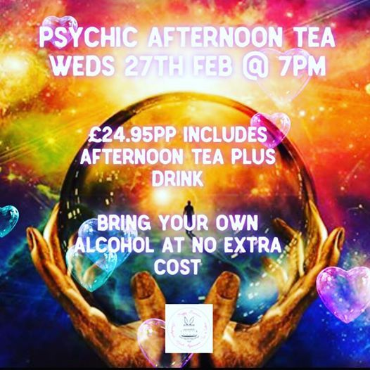 Psychic afternoon tea evening at Happy Bunnies, Preston