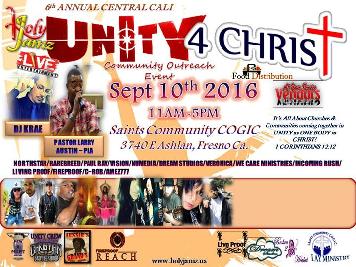 6th Annual UNITY 4 CHRIST Community Outreach Event 2016