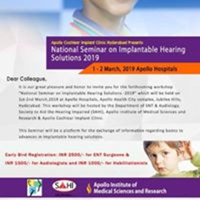 National Seminar on Implantable Hearing Solutions
