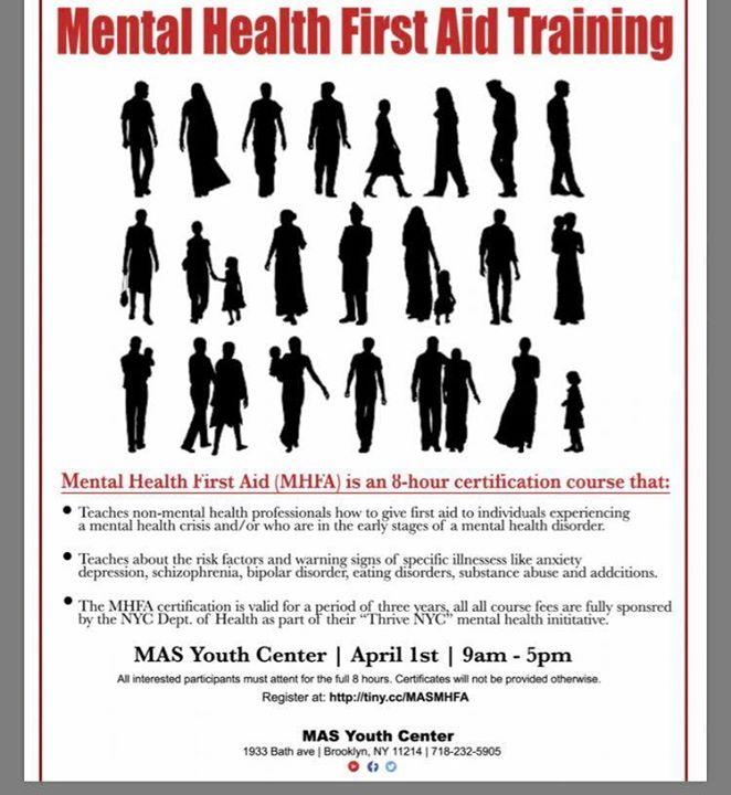 Mental Health First Aid Training At Mas Youth Center Brooklyn