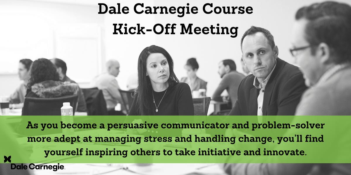 Dale Carnegie Course - Kick-Off - Kitchener