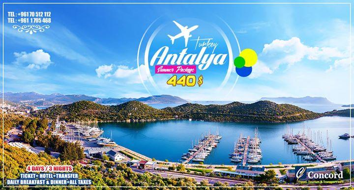 Antalya Summer Travel for 440
