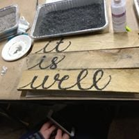 Recycled Granite WordSign Class
