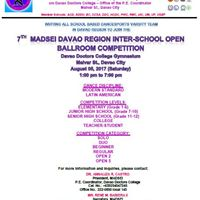 7th Madsei Davao Region Inter-School Open Ballroom Competition