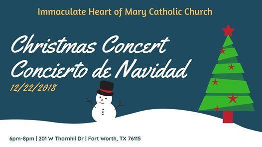 Concierto De Navidad Christmas Concert At Immaculate Heart Of Mary