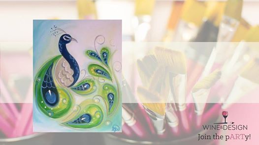 Paisley Peacock Byob Painting Class At Wine Design Greenville