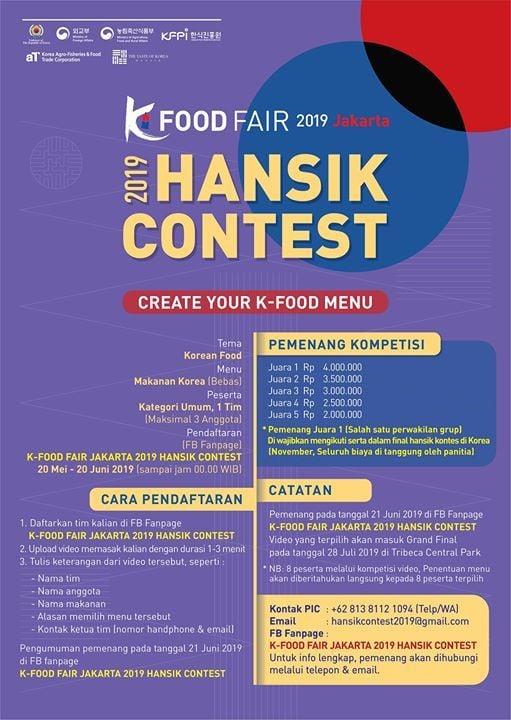 K-Food Fair Jakarta 2019 Hansik Contest