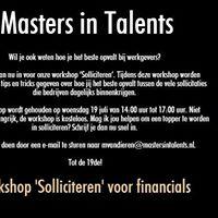 Workshop Solliciteren voor financials