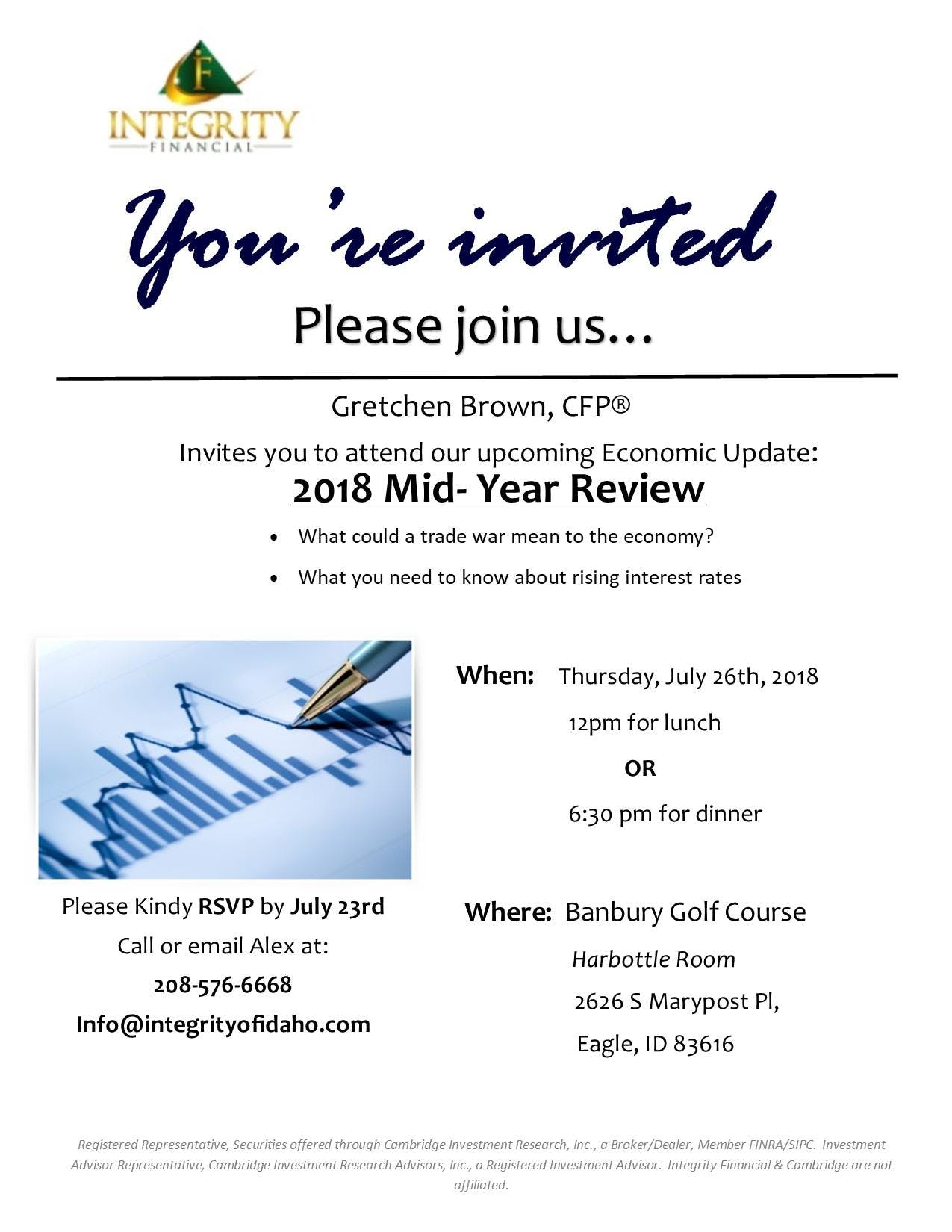 Economic Update: Mid-Year Review at Banbury Golf Course, Eagle