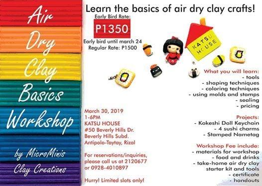 Air-dry clay Basics Workshop