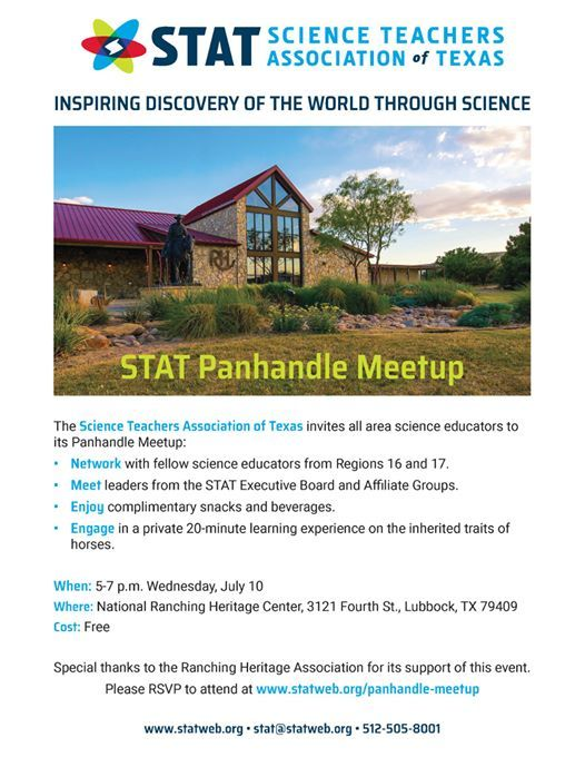 STAT Panhandle Meetup at National Ranching Heritage Center, Lubbock