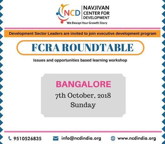 FCRA Roundtable Bangalore