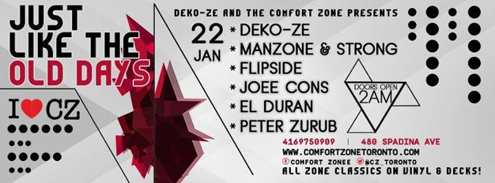 Deko-ze & Comfort Zone Pres. Just Like The Days - Tracks On Wax
