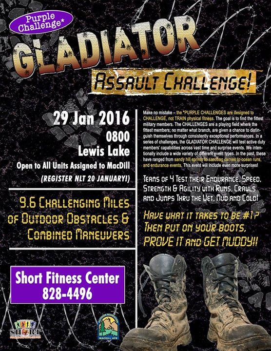 Gladiator Assault Challenge At Short Fitness Center