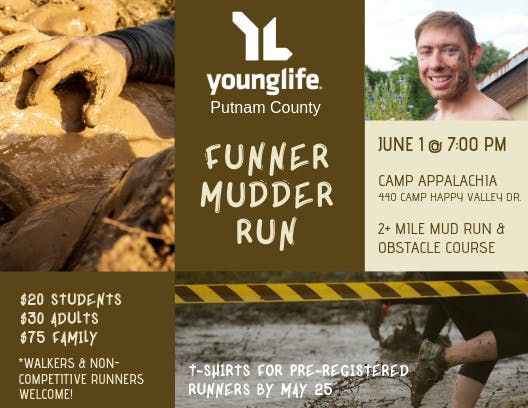 Young Life Putnam Funner Mudder Run at Camp Appalachia, Teays Valley