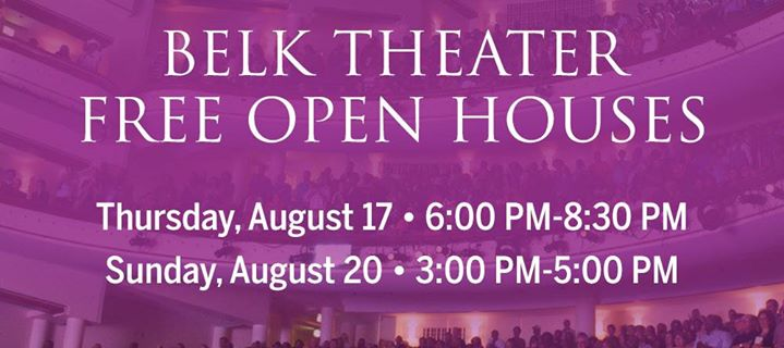 Belk Theater Free Open House Sunday Afternoon