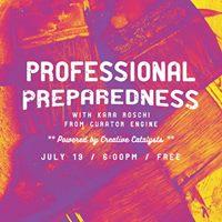 Professional Preparedness for Creatives