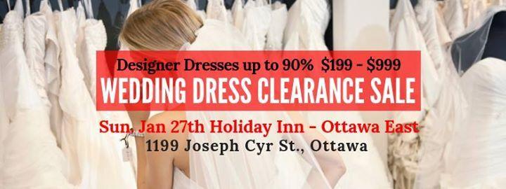 Ottawa Pop Up Wedding Dress Sale