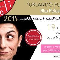 Urlando Furiosa - Rita Pelusio - Aspettando Vicoli 2018