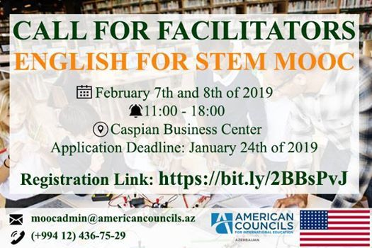 Call for Facilitators - English for STEM MOOC